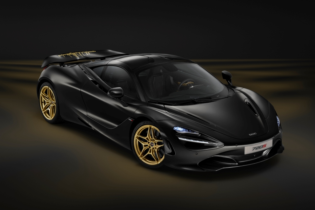 Dubai debut for unique satin black and gold MSO bespoke McLaren 720S