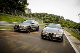Alfa Romeo showcases their Stelvio and Giulia NRING