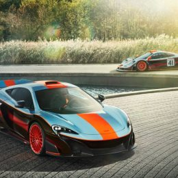 McLaren MSO Gulf Racing 675LT with 1997 F1 GTR Longtail