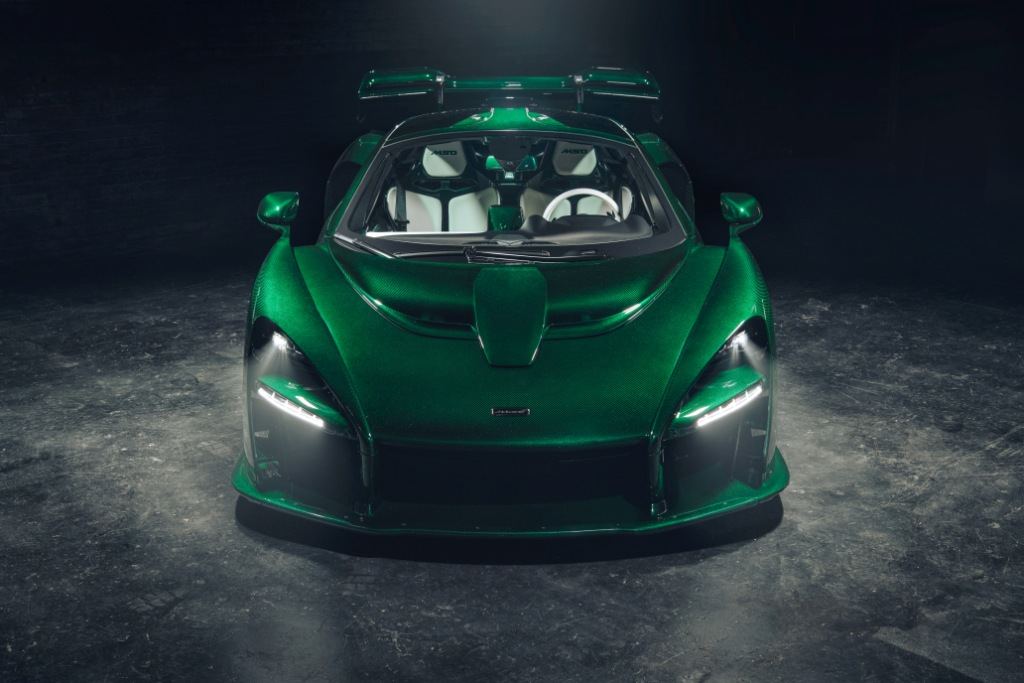 Bespoke McLaren Senna with full visual carbon fibre body in Emerald Green