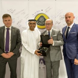 Marcus Blake_Lotus Cars plc-His Excellency Majid Saif Al Ghurair-Karl Hamer_Adamas Motors LLC- Jonathan Stretton_Lotus Cars Middle East