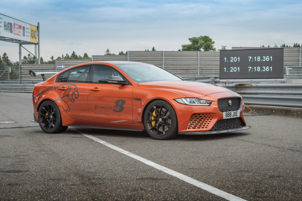 Jaguar XE SV Project 8 beats its own Nurburgring Record