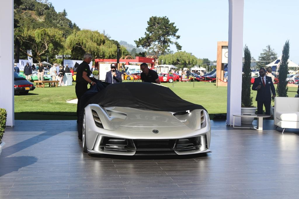 The Lotus Evija unveiled at The Quail