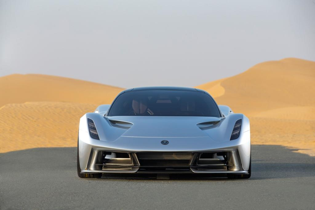 Lotus Evija continues its world tour with its Middle East premier