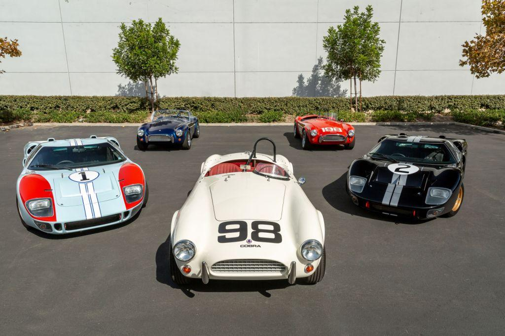 """GT40s and Cobras indentical to those used in the making of """"Le Mans '66"""" available now from Le Mans Coupes Ltd"""