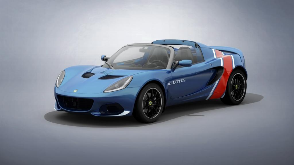 New Lotus Elise Classic Heritage Edition race car inspired liveries