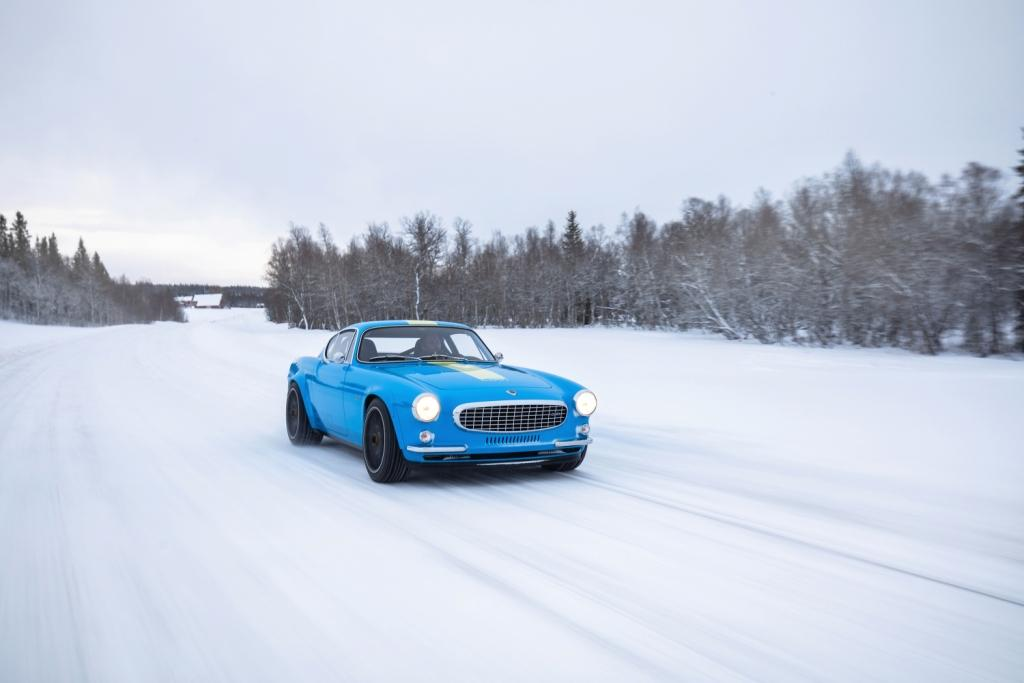 Back to basics with the Volvo P1800 Cyan in northern Sweden