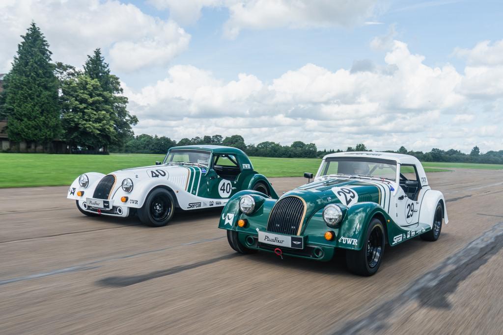 Morgan Plus Four race cars hit the track