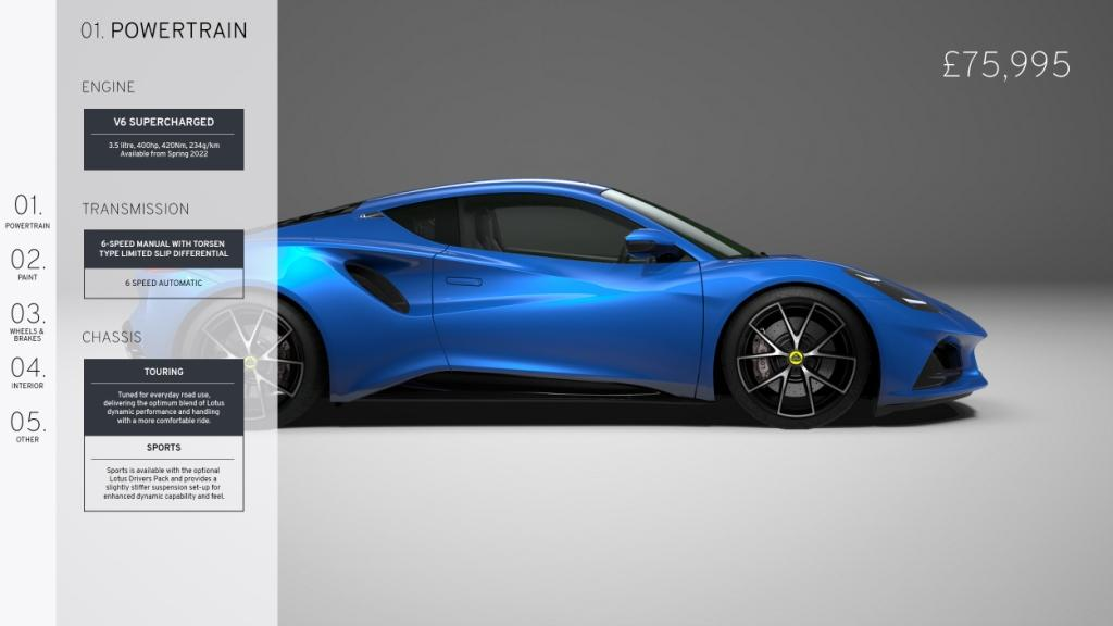 Lotus confirms full specification and price of all-new Emira V6 First Edition