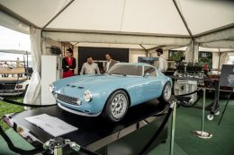 Squalo shown to the public for first time at Goodwood Revival in half scale by GTO Engineering