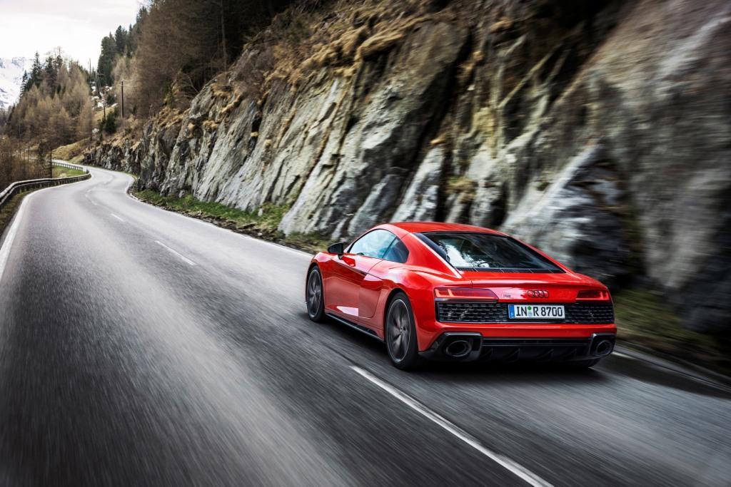 The Audi R8 V10 performance RWD