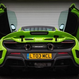 McLaren 675LT doors open rear