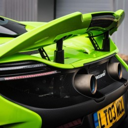 McLaren 675LT rear spoiler up