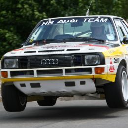 Audi quattro Group B in action at Cholmondeley Castle