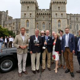Barrie Woolston (with Trophy) and Jaguar Trophy judges
