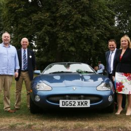 Phillip Dyson (centre left) with his Modern Classics class winning XKR