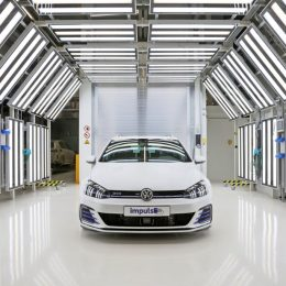 Wolfsburg Apprentices Present First GTI Wit Electric Drive System