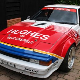 Barry Sheene's 1985 Toyota Supra Touring Car At The Silverstone Classic Race Car Sale