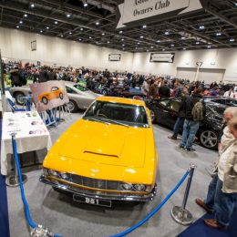 Aston Martin Owners Club at the London Classic Car Show