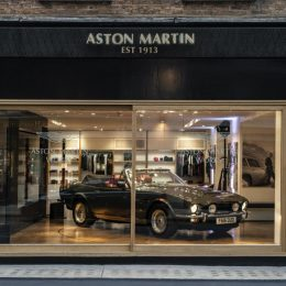 Aston Martin Works Heritage showroom opens in London's Mayfair