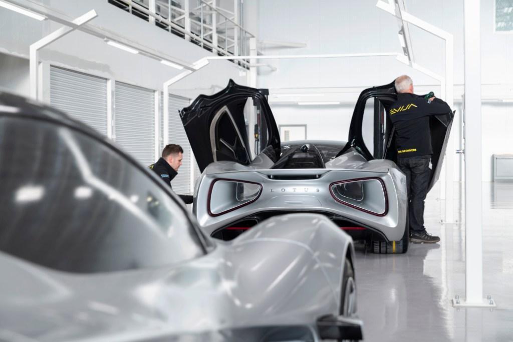 Lotus Evija production comes alive