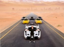 Marc Philipp in Dubai with the last vehicles personally manufactured by his father.