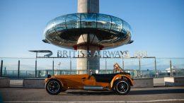 Caterham opens world's highest dealership at British Airways i360
