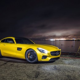Yellow-Mercedes-AMG-GT-Front-Side