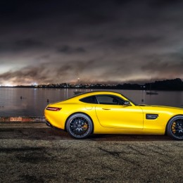 Yellow-Mercedes-AMG-GT-Side
